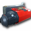 Oil-lubricated, vane-type rotating pumps